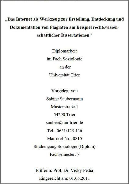Uni Trier Ethnologie Infos Zur Masterarbeit