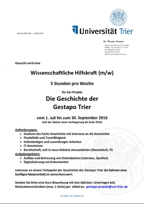 Uni Trier Qualitätssicherung Einzelansicht