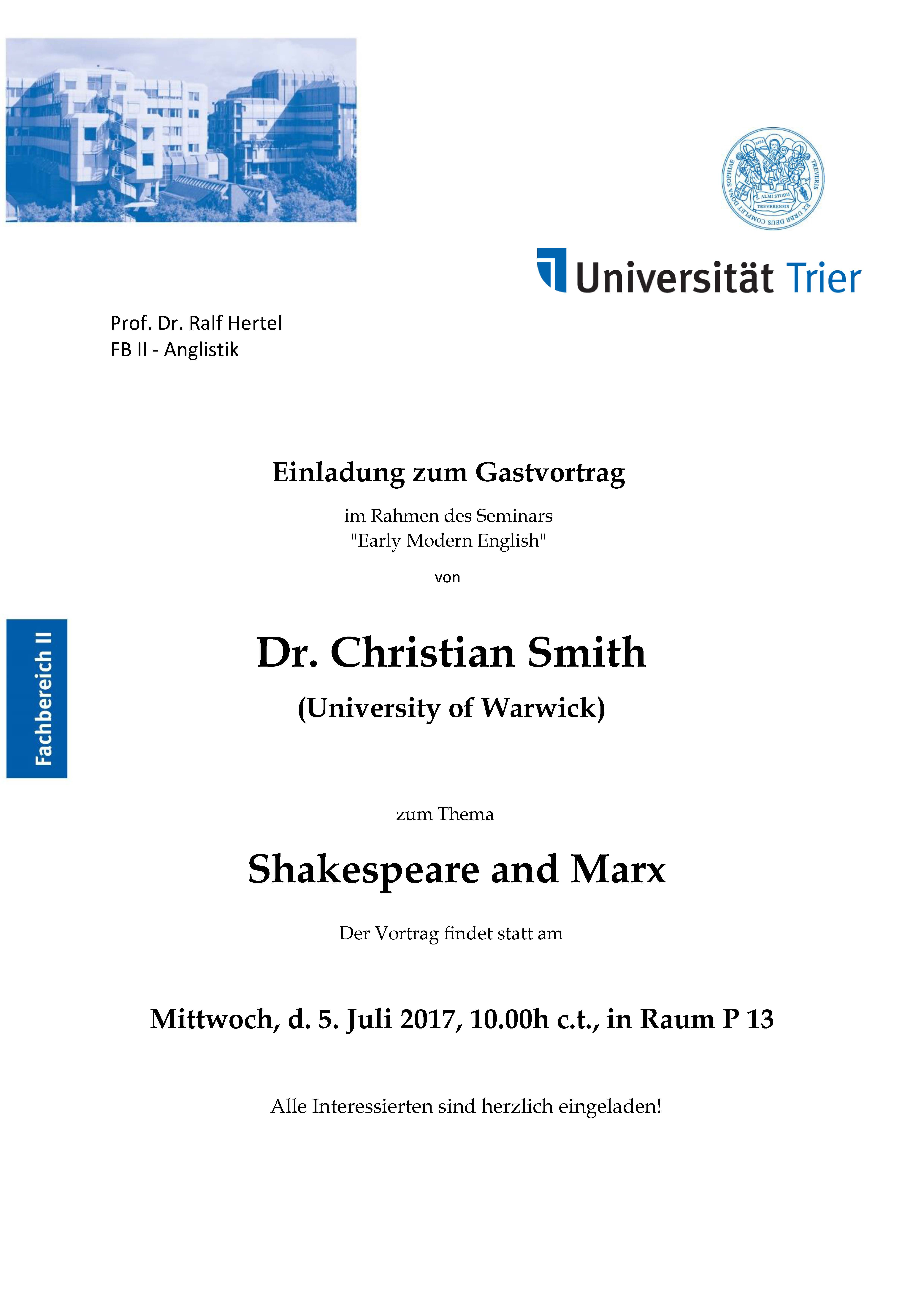 Uni Trier: Anglistik - General information