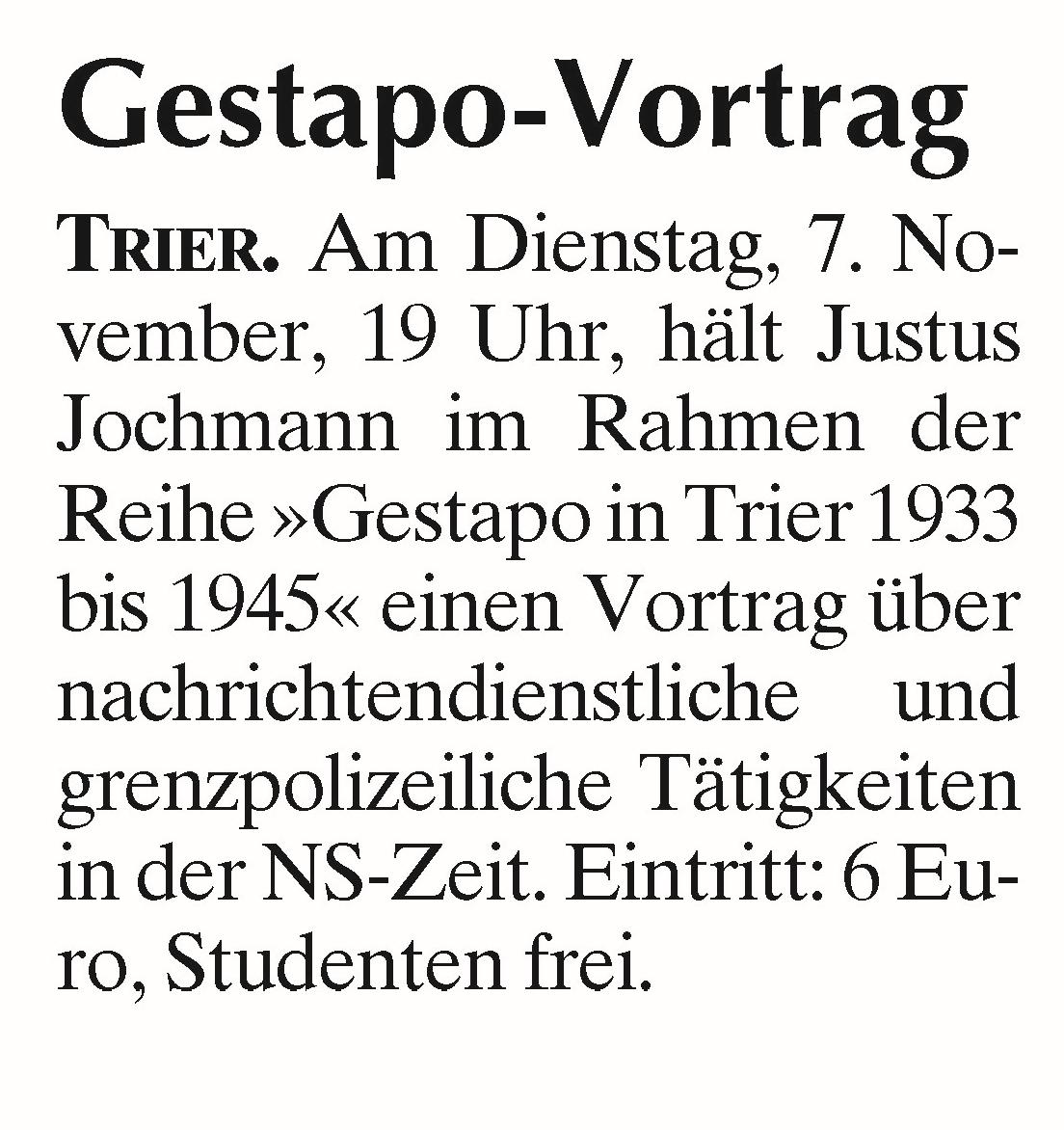 Uni Trier: Projekt