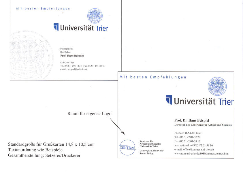 Uni Trier Kommunikation Marketing Einladungs Und